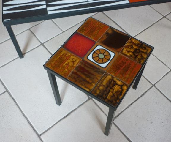 petite table basse ann es 1960 la roue vallauris broc 39 en 39 guche. Black Bedroom Furniture Sets. Home Design Ideas