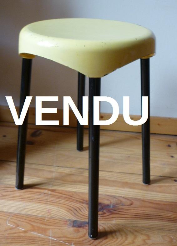 vintage tabouret ann es 1950 39 s plastunic broc 39 en 39 guche. Black Bedroom Furniture Sets. Home Design Ideas