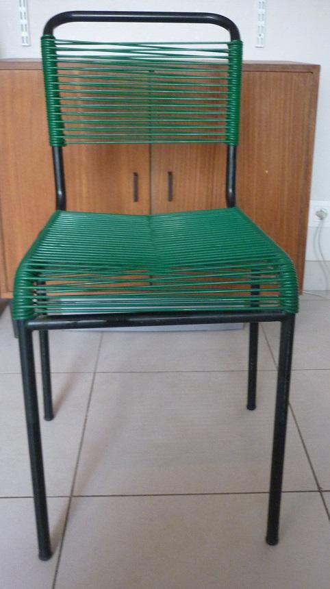 Chaise en scoubidou vert ann es 1950 60 broc 39 en 39 guche - Chaise scoubidou vintage ...