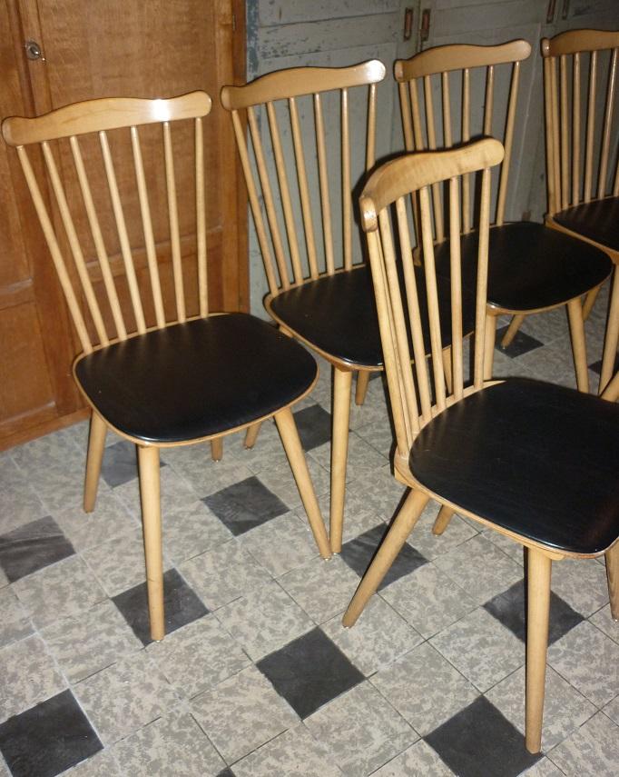 chaises baumann des ann es 1950 60 broc 39 en 39 guche. Black Bedroom Furniture Sets. Home Design Ideas