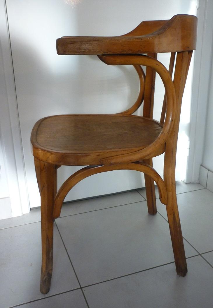 fauteuil baumann en bois courb broc 39 en 39 guche. Black Bedroom Furniture Sets. Home Design Ideas