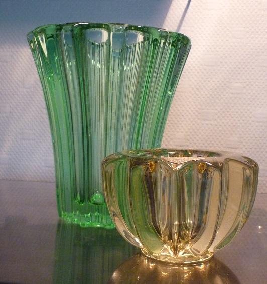 vases en verre art deco pierre d 39 avesn broc 39 en 39 guche. Black Bedroom Furniture Sets. Home Design Ideas