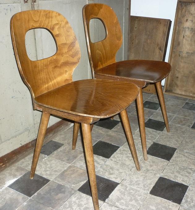 Chaises de bistrot baumann 1950 39 s broc 39 en 39 guche for Chaise bistrot baumann prix