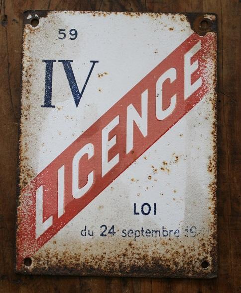 Plaque maill e licence iv bistrot broc 39 en 39 guche - Licence 4 prix ...