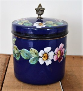 pot émaillée fleuri (10)