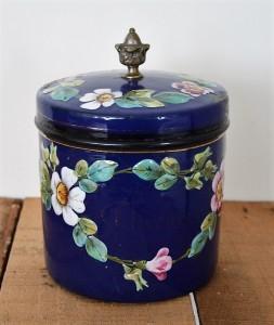 pot émaillée fleuri (8)